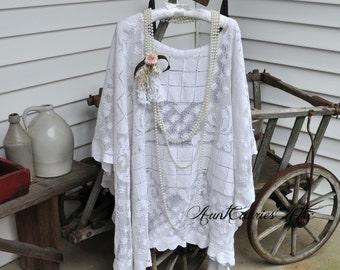 Lace Shawl Street Festival Clothing Victorian Steampunk Boho Shawl Gypsy Shawl Coachella Hippie Shawl