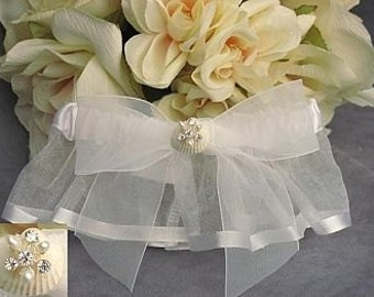 Rhinestone Shell Hawaiian Beach Wedding Garter - 50105