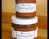 Large Morning Coffee Body Polish, Spa Gift, salt scrub, Gift For Her, Gift for Wife, Gift for Husband, Gift for Friend, Bath and Beauty