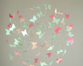 Baby Mobile, Butterfly Mobile, Mobiles for Nursery, Baby Girl, Baby Shower Gift, Mint, Coral and Peach Nursery Decor