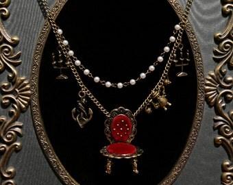 Elegant Pirate's Tea Necklace