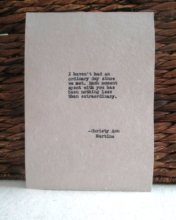 Gift for Him or her for anniversary or birthday Love Quote Typed Quotes Unique Gifts for Men or Women