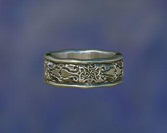 wedding ring  celtic ring  celtic     wedding band   engagement ring ZB15A