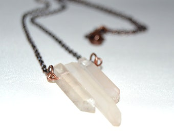 Quartz Trio Necklace
