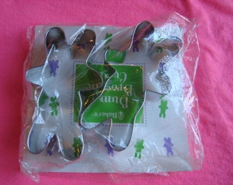 Metal Baker's Easter Bunny Brownie Cookie Cutter Set of 2