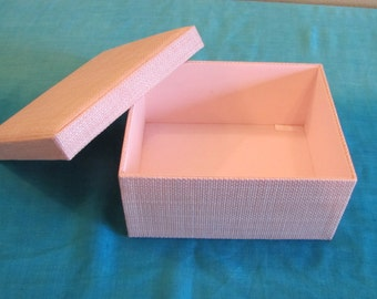 Fabric Covered Box in Pale Pink