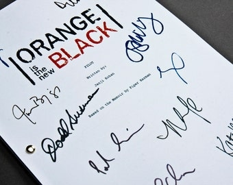 Orange is the New Black TV Script with Signatures/Autographs Reprint OITNB