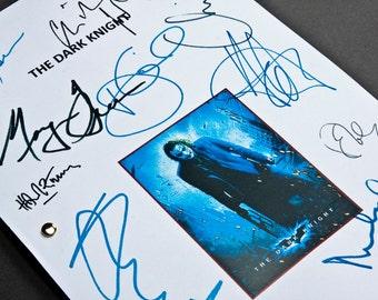 The Dark Knight Film Movie Script with Signatures/Autographs Reprint