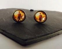 Going on an Adventure - Brass Stud Earrings