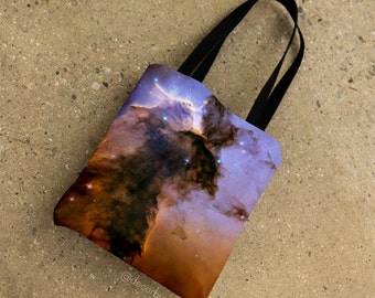 Stellar Spire Eagle Nebula All Over Tote Bag