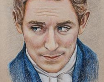 Mr. Nobley / JJ Feild Print of colored pencil drawing