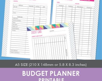 Budget + Credit Card Planner Printable