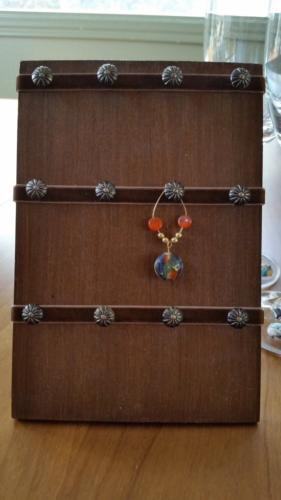 wine glass charm holder for 12 charms by winefinery on etsy