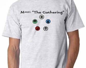 Magic: The Gathering T-Shirt (Includes colored mana symbols)