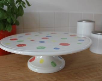 Hand painted ceramic cake stand