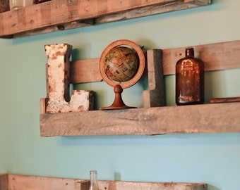 "Rustic Shelving set of two 26"" wide"