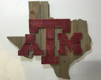 Texas A & M Rustic Wall Art