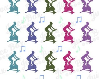 Set of 20 Spinning Stickers with 16 Bonus Musical Notes Stickers