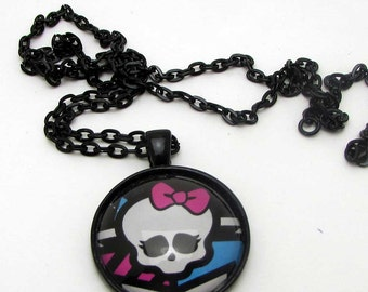 Monster High Logo Pendant With Matching Necklace