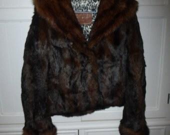 Fur jacket size 38 new - unique creation