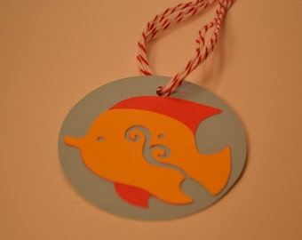 Under The Sea Gift Tags/ Under the Sea Fish Gift Tags/Gift Tags/Fish Thank You Tags