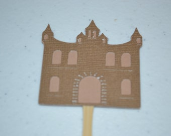 Sandcastle Cupcake Toppers-/Sandcastle/Sandcastle/Cupcake Toppers