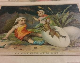 Antique Victorian Easter Card – Easter Joy