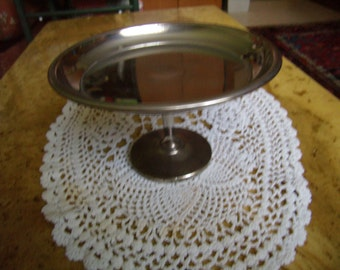 Stand for cakes, footed tray, dish, appetizer tray, cakes, Cup stainless steel 18/10, 1980