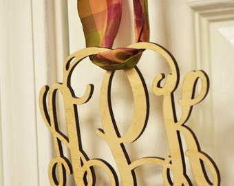 """Small (4"""") Wooden Monogram-Ready to Paint-Perfect for Gift Topper, Easter Basket, Hostess Gift, Bridal Party"""