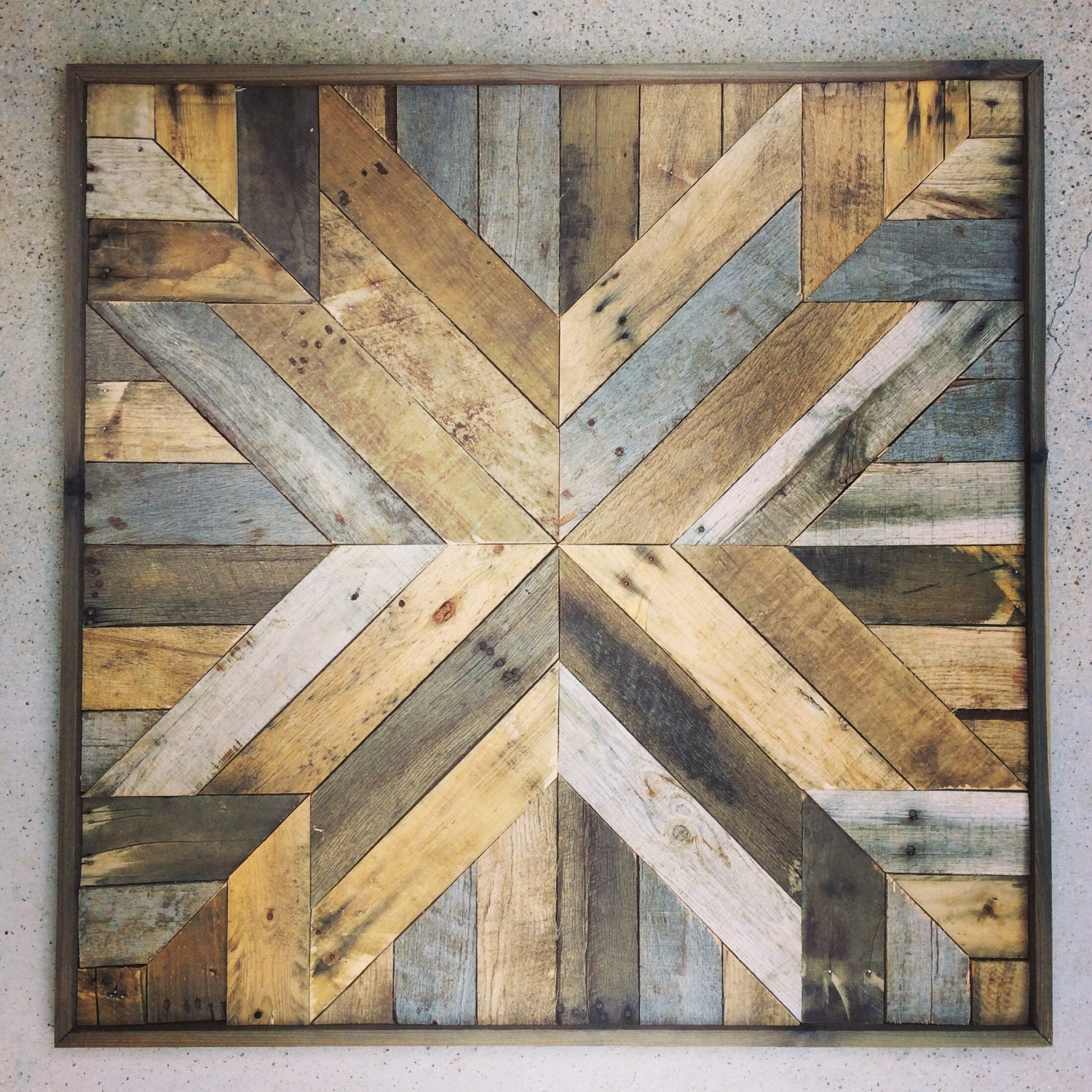 Reclaimed wood wall art barn wood reclaimed art for Barnwood pieces