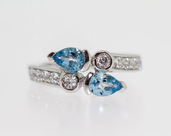 925 Sky Blue Topaz Ring