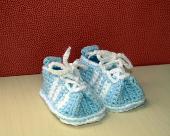 Items similar to Crochet Baby Tennis Shoes Baby Boy