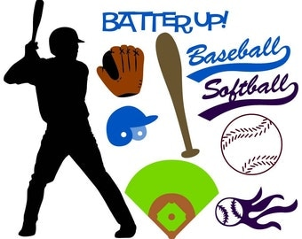 Baseball/Softball Vector Art SVG Files
