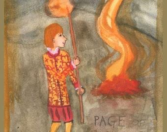Fiery Wands small Tarot deck