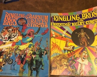 Two vintage Ringling Bros. Large Programs ~ 1974 and 1979