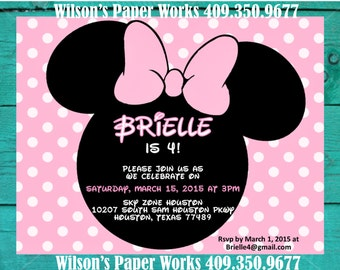 Minnie Mouse Invitation -Custom Design