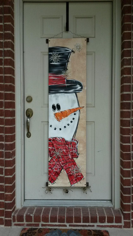 Mr Snowman Canvas Door Decoration