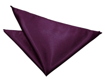 Satin Plum Handkerchief / Pocket Square