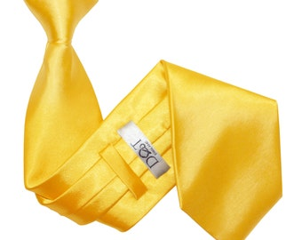 Satin Marigold Clip On Tie
