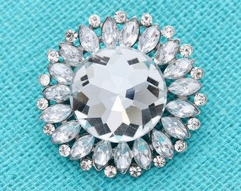 Rhinestone Wedding Brooch Bridal Bouquet Crystal Silver Broaches Gown Sash Cake Monogram Necklace DIY Jewelry Crafts Broaches for Wedding