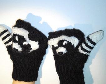 Badgers Mittens/ Animals Mittens/ Kids Gloves/ Funny Mittens/ Children, Toddler Mittens/ Badgers/ Mittens for Kids/ Badgers/ Warm Mittens