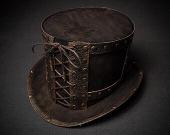 Steampunk Top Hat Ladies Hat Mens Hat Womens Hat Victorian Top Hat Mad Hatter Hat Alice in Wonderland Steam Punk Hat Steampunk Hat Topper
