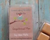 Gingerbread Man Soy Wax Melt, Wax Tart, Soy Wax Tart