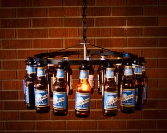 Beer bottle chandelier chain style No Wiring Required