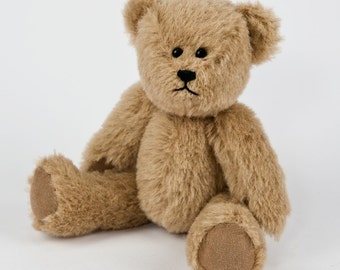 Travel Teds - Handmade, Hand Stitched Collectible Artists Mohair Teddy Bear - Olive