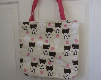 Personalized Meow Meow Kitty Cat Tote Bag
