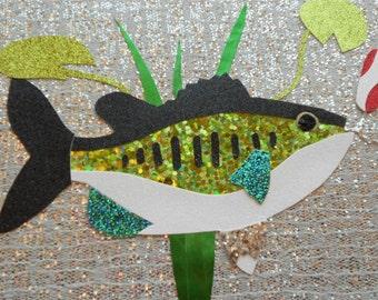 large mouth bass fish wall art lake bass