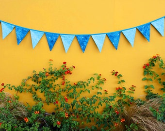 Fabric banner cotton Bunting Banner-Flags -  Includes an envelope pouch