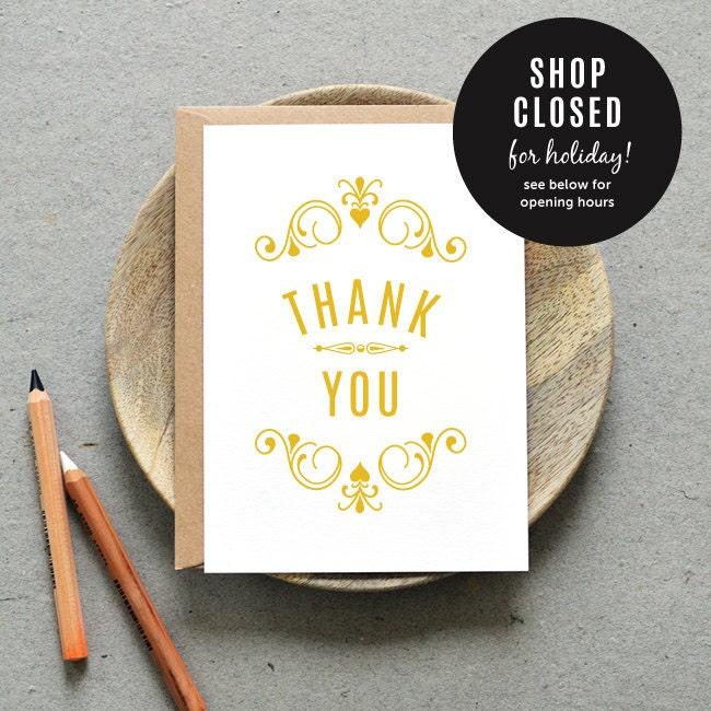 printable wedding thank you card pdf  'vintage apothecary