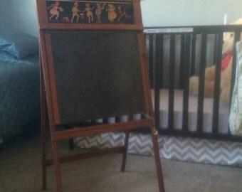 Price Drop!  Rare Stern's store brand LithoSlate chalkboard easel desk